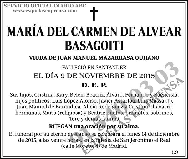 María del Carmen de Alvear Basagoiti